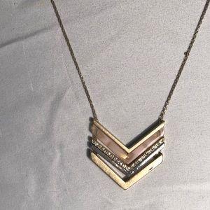 Long chevron necklace